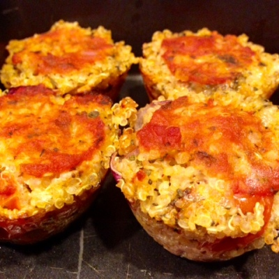 Gluten-free Quinoa Pizza Bites