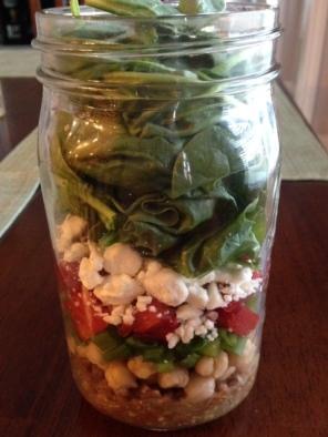 Mediterranea Style Salad in a Jar