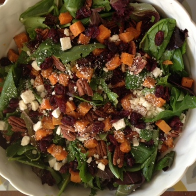 Roasted Sweet Potato Salad with Honey-Cumin Vinaigrette