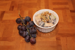 grapes and a granola fruit salad