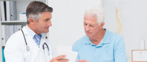 a dr talking with a patient
