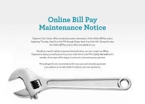 online bill pay maintenance notice